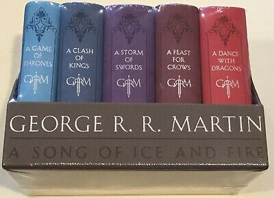 Games Of Thrones-5 Book Set-A Song Of Ice And Fire: George R. R. Martin- New!