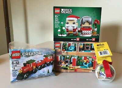 LEGO Christmas Lot Holiday Gift 40292 Claus 40274 Train 30543 Ornament 853815