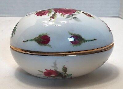 Hammersley Grandmothers Rose Bone China Egg Trinket Box Made England Spode Group