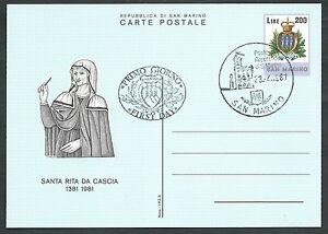 1981-SAN-MARINO-FDC-CARTOLINA-POSTALE-SANTA-RITA-DA-CASCIA