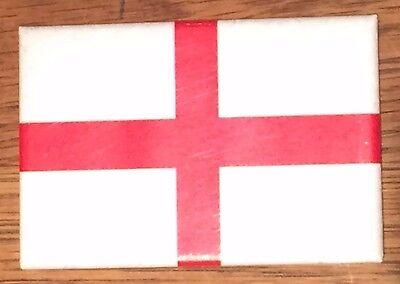 "ENGLISH / ENGLAND FLAG / SAINT GEORGE'S CROSS Fridge Magnet 3""x2"""