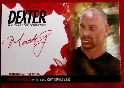 DEXTER - Series 7 & 8 MATT GERALD as Ray Speltzer - Autograph Card AMG2