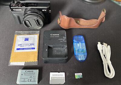 Canon PowerShot G7X Mark II 20.1 MP Compact Digital Camera - Black - Very Good