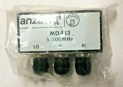 Anzac Rf Mixer Model Md-143 5-500 Mhz  Bnc