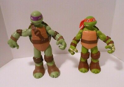Two Large NINJA TURTLE Figures, Adult & Teenage - Ninja Turtle Adult