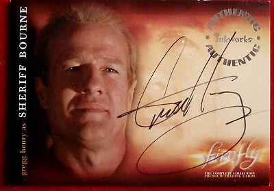 Joss Whedon's FIREFLY - GREGG HENRY, Sheriff Bourne - AUTOGRAPH Card A9 Inkworks