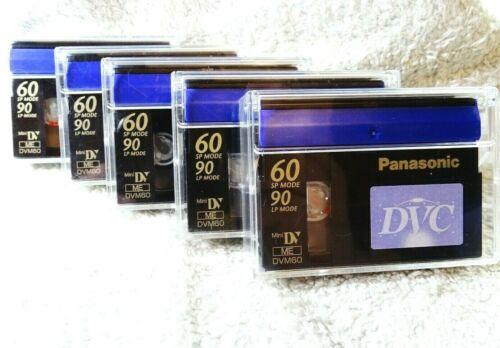 Panasonic Mini DV ME SCM60 DVC Digital Video Cassette Tape SET OF 5 Used Once