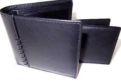COACH Men's 3-In-1 Wallet with Baseball Stitch (Black)