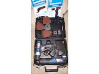 Silverline cordless drill and multitool set