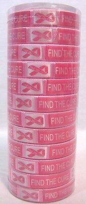 12 Pink Breast Cancer Awareness Cuff Bangle Bracelet Fundraiser Party Favor B14