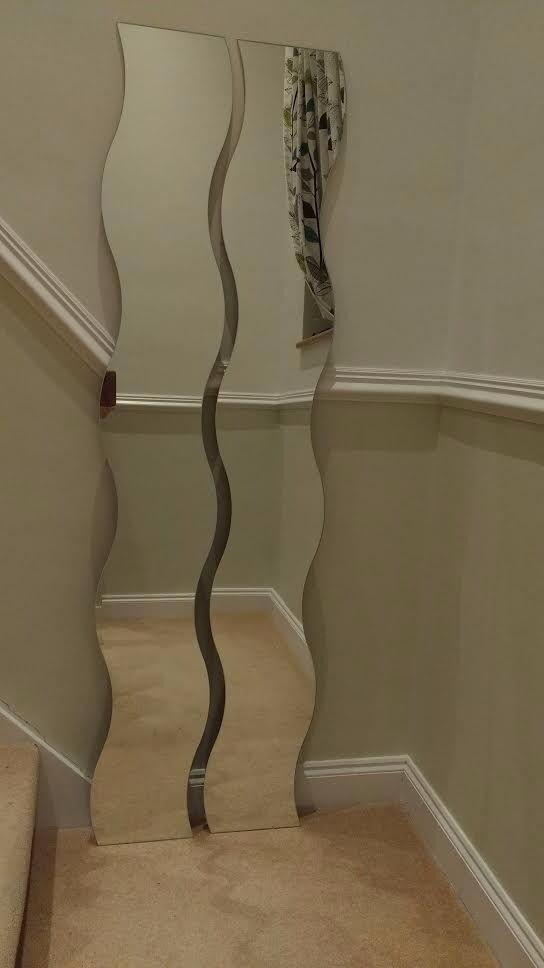 Two Full Length Ikea Wavy Mirrors With Fixings