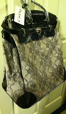 Lap Top Wheeled Computer Bag tan lace