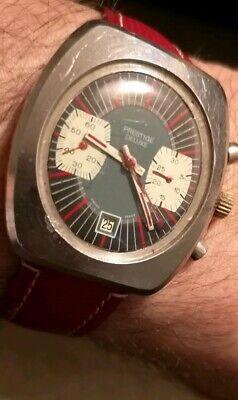 Valjoux 7734 Prestige Deluxe oval Chronograph Watch vintage
