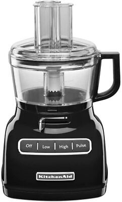 KitchenAid KFP0722OB 7-Cup Food Processor with Exact Slice System - Onyx Black