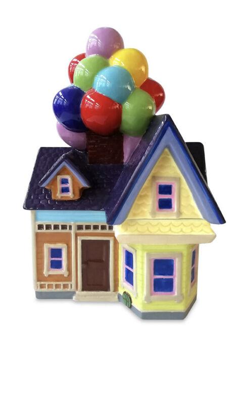 Disney Up Carl Balloon House Ceramic Cookie Jar