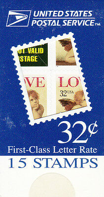 U.S. MAKESHIFT BOOKLET OF 15 SCOTT#BK235 1996 32ct LOVE CHERUB MINT UNOPENED