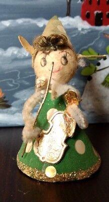 Christmas Figure Ornament Pipe Cleaner Musician Girl Mid-Century Vintage Japan