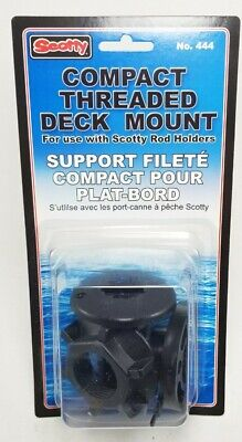 Scotty Compact Threaded Round Deck Mount No. 444 NEW Compact Threaded Deck Mount