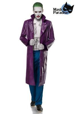 Kostüm Joker Herren Halloween Karneval Suicide Gangster Clown Filmfigur M  L XL