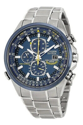 Citizen Men's Blue Angels World Chronograph Eco Drive Watch AT8020-54L NEW