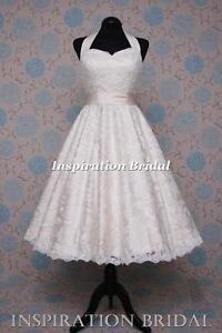 1552 robe de mariée courte mariage Neuf blanche ivoire taille 8 10 12 ...