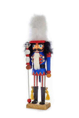[Kurt Adler Hollywood Nutcracker - Red, White, & Blue Soldier with White Hat New</Title]