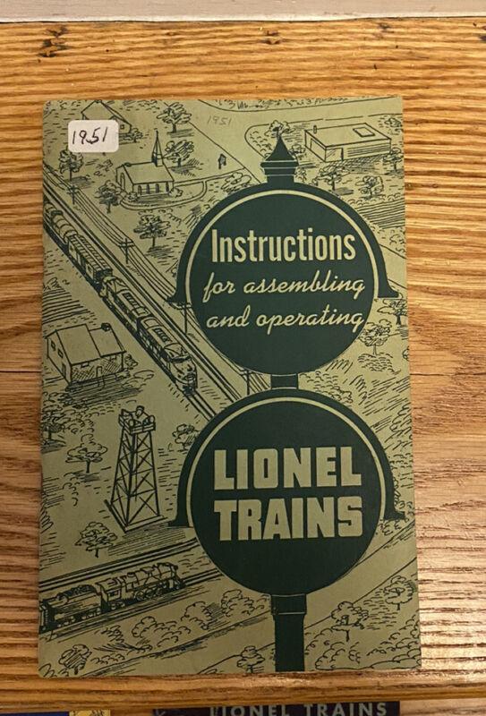 LIONEL TRAINS 1951 INSTRUCTION MANUAL BOOK