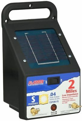 Fi Shock Solar Shock - Fi-Shock Outdoor 2-Miles Solar Powered Electric Wire Fence Energizer Controller