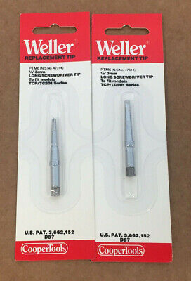 Lot Of 2 Weller Ptm6 Replacement Long Screwdriver Tip For Models Tcp Tc201 18
