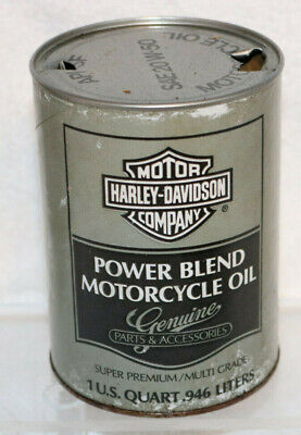Harley-Davidson Power Blend Motorcycle Oil, Grey Quart Composite Can, Empty 1A
