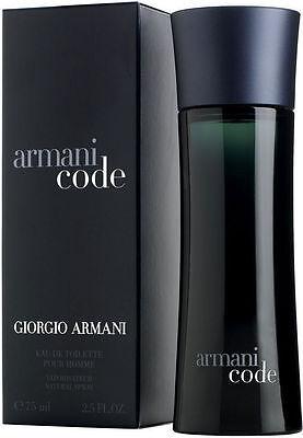 Armani Code By Giorgio Armani 2.5 oz Spray Bottle New Men Cologne ~ Sealed