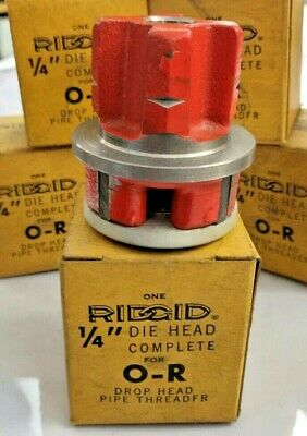 Nos Ridgid O-r Pipe Threading Die Head 14 Inch Made In Usa