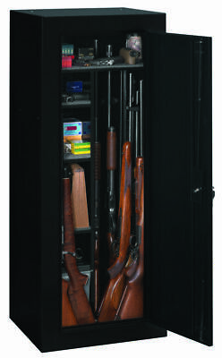 18 Gun Safe Fully Convertible Cabinet Shooting Storage Organizer Black Firearms