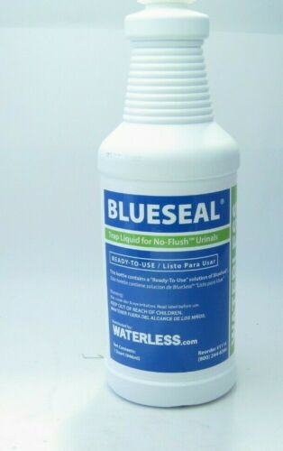 1 Quart Waterless BLUESEAL No Flush Urinal Trap Liquid (Part #1114) - 1 Quart -
