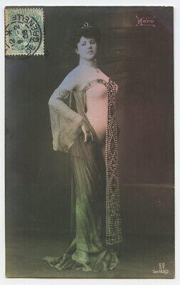 c 1910 Risque Nude HERO BODY BEAUTIFUL Herito Body Suit Stocking photo postcard