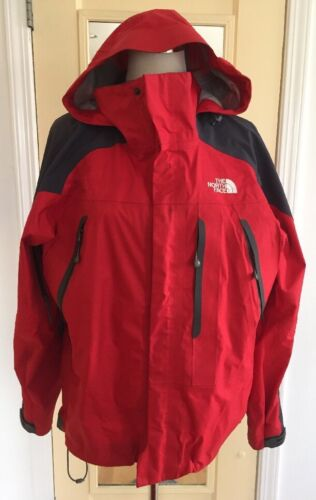 8db820e8d THE NORTH FACE Large Womens Red HYVENT SUMMIT SERIES ALPHA CoatVERY NICE