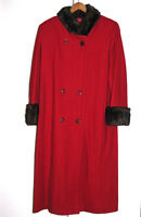 Manteau dame laine, garni vison-Lady's wool coat, mink trimmings