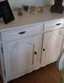 Shabby chic French sideboard solid heavy
