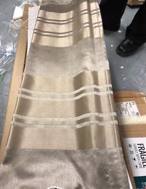 2x NEW champagne striped roman blinds 749x2146mm