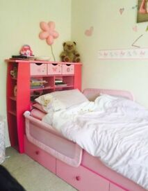 Girls bed and wardrobe