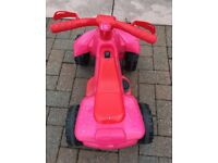 Pink Roadsterz Electric 6v Quad Bike - almost new