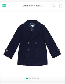 Boys John rocha navy coat 4-5