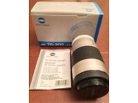 Minolta AF75-300 Macro Zoom Lens In Original Box