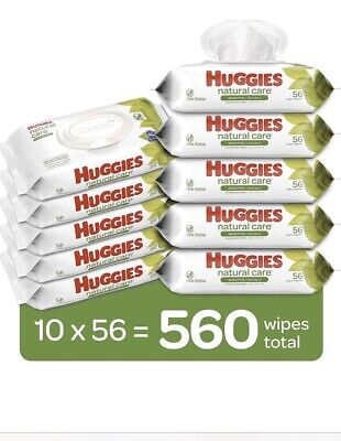 huggies natural care baby wipes 560