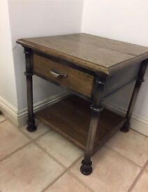 victoriana industrial style side table chest of drawers