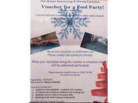 Pool party voucher