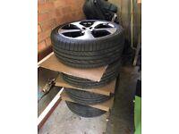 4 x Genuine VW Austin Alloy Wheels & New Tyres