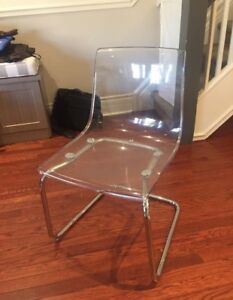 6 clear chairs