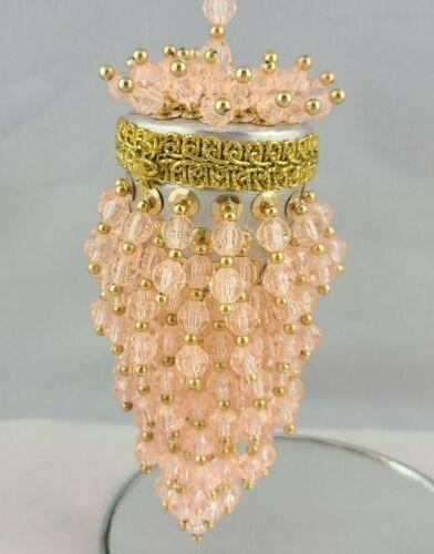 Vintage Pink Beaded Tea Strainer Ornament
