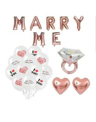 Will You Marry Me Balloons (Will You Marry Me Decoration Set - Rose Gold 16